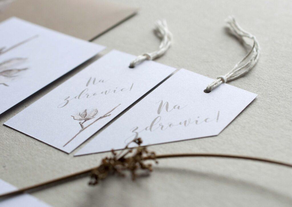 Zaproszenia ślubne - kolekcja Bawełna