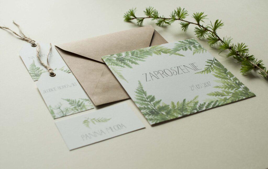 Zaproszenia ślubne - kolekcja Las