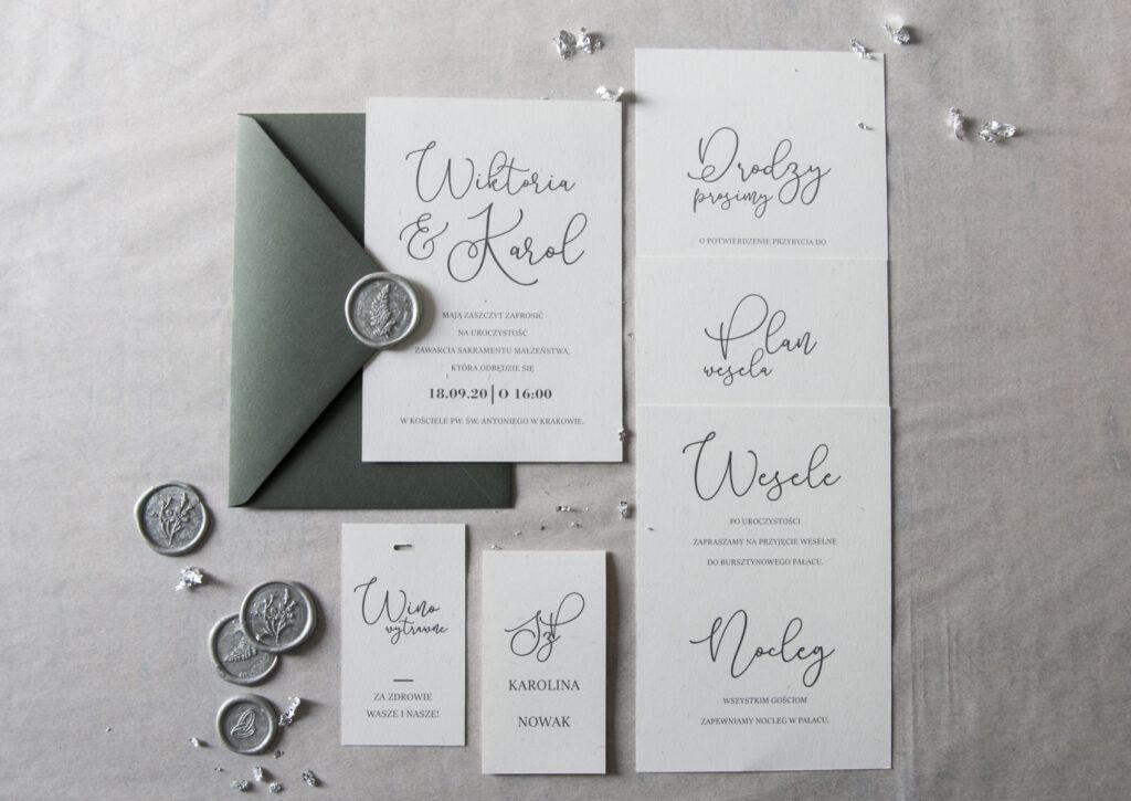 Zaproszenia ślubne - kolekcja Classic