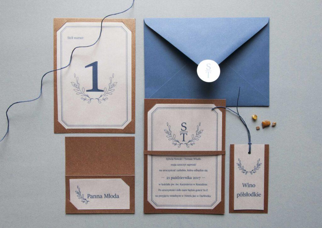 Zaproszenia ślubne - kolekcja Copper
