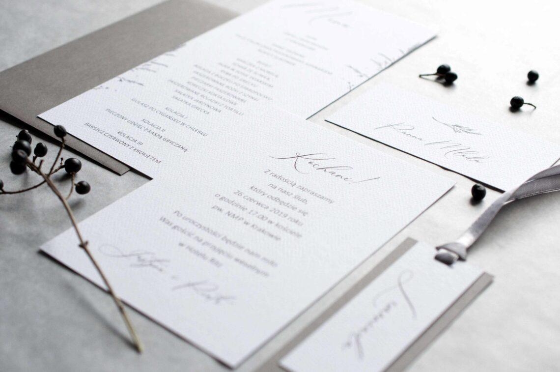 Zaproszenia ślubne - kolekcja Trifle