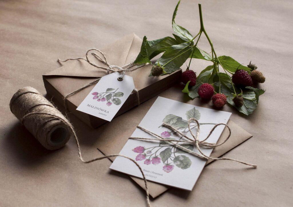 Zaproszenia ślubne - kolekcja Maliny