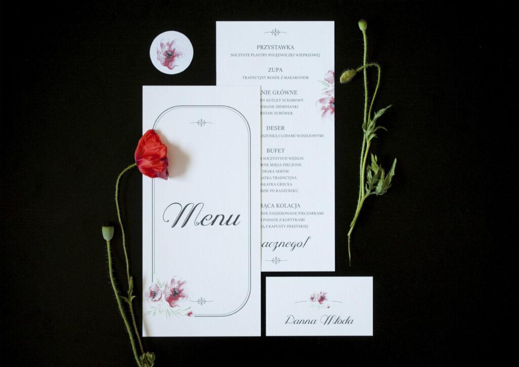 Zaproszenia ślubne - kolekcja Maki
