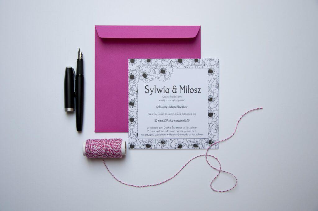 Zaproszenia ślubne - kolekcja Anemon
