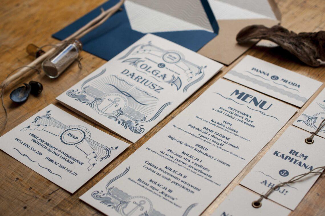 Zaproszenia ślubne - kolekcja Marina