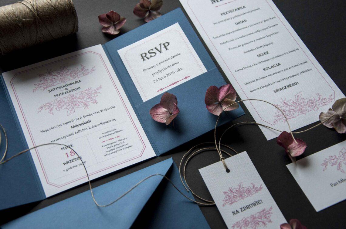 Zaproszenia ślubne - kolekcja Pink Flowers