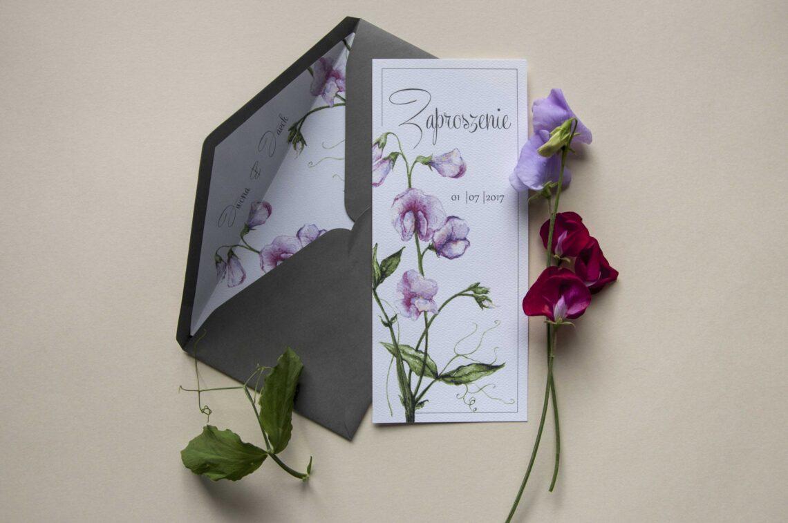 Zaproszenia ślubne - kolekcja Groszek Pachnący