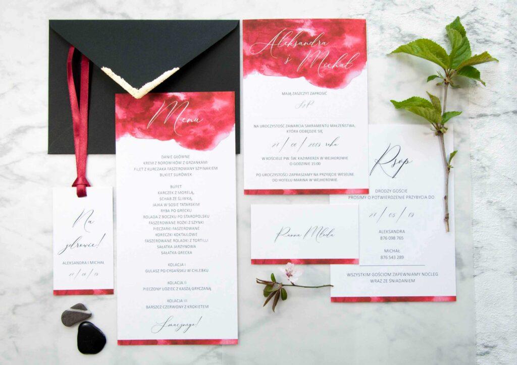 Zaproszenia ślubne - kolekcja Elite