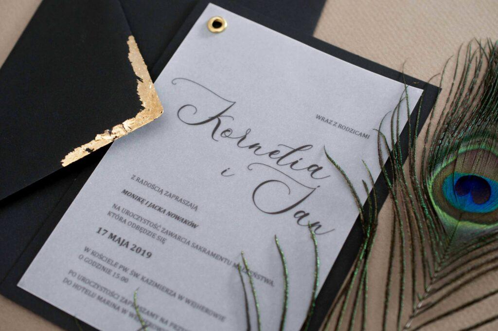 Zaproszenia ślubne - kolekcja Noc