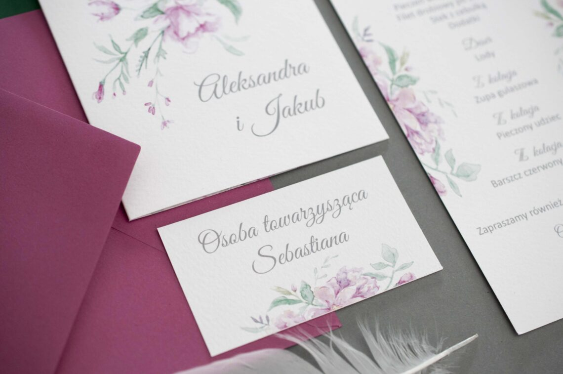 Zaproszenia ślubne - kolekcja Flower Power
