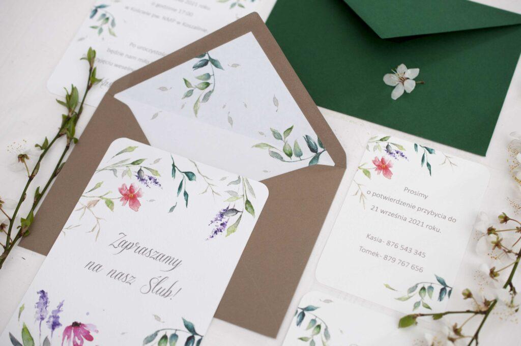Zaproszenia ślubne - kolekcja Garden
