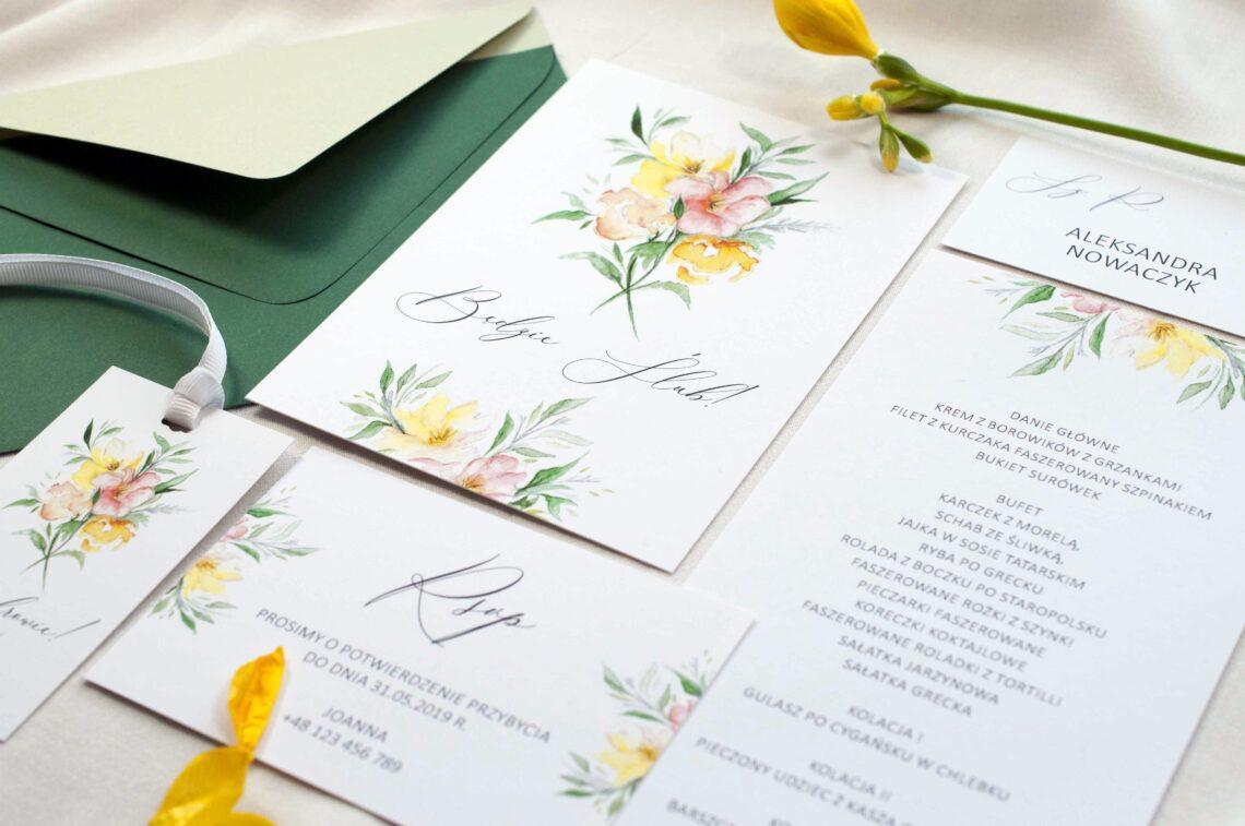 Zaproszenia ślubne - kolekcja Summer Flowers