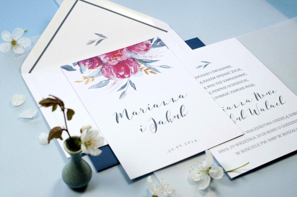 Zaproszenia ślubne - kolekcja Piwonia