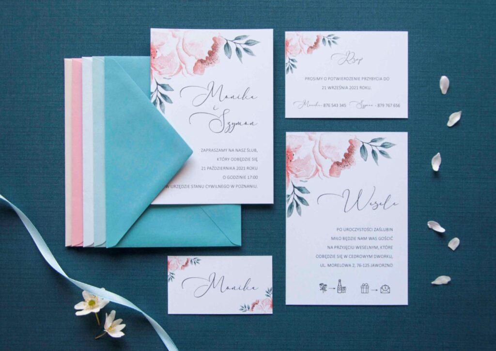 Zaproszenia ślubne - kolekcja Pastelove