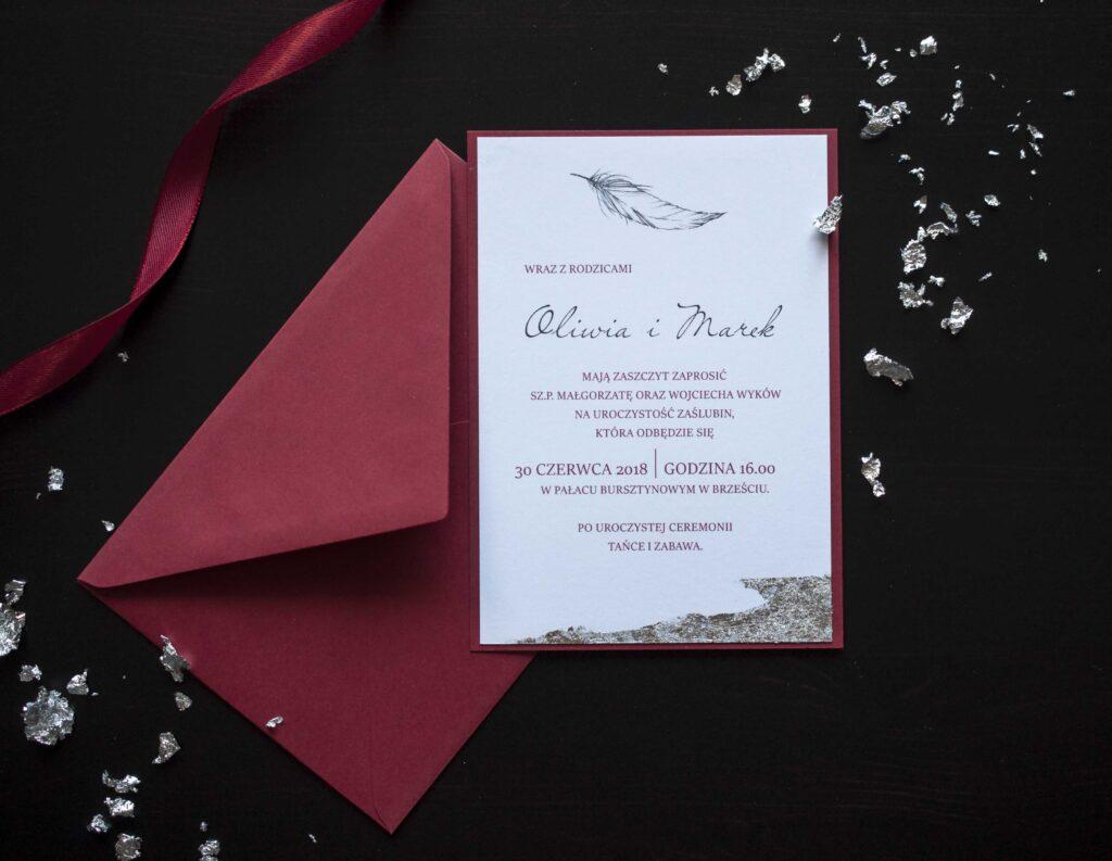 Zaproszenia ślubne - kolekcja Silver